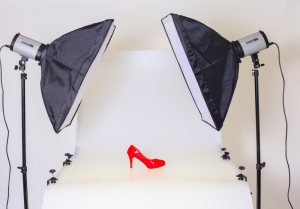 Professional Product Photography Shoot Featuring a Red High Heel